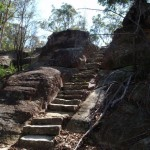 Rock steps north of the lookout track
