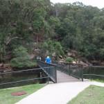 Walking across Apple Tree Creek Bridge