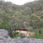Looking down to Glenbrook Creek from near car park