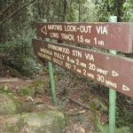 Signs below Martins Lookout