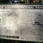 Blue Mountains NP info sign at car park