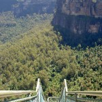 Track down to Lower Pulpit Rock Lookout
