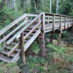 Wooden bridge near Mill Creek picnic area