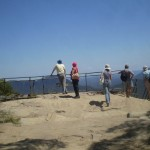 People enjoy the view at Lady Darley Lookout