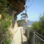 Under a small overhang Near Katoomba Falls Park