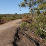 Edge of rock platform on Thommos Loop trail