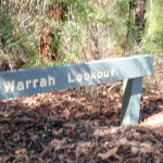 Warrah Lookout sign