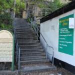 Steps behind Mosman Wharf