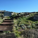 Bottom end of the Mt Kosciuszko metal pathway
