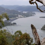 View over the Hawkesbury River and Peats Ferry Bridge