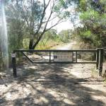 Locked gate at start of Smiths Creek Trial