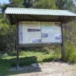 Sign near Coastal Cemetery, near Botany Bay National Park