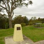 Yellow stone monument, near Mt Sugarloaf car park