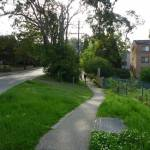 Walking along Dural St footpath