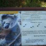 Signage at the Wildlife Exhibits at Carnley Ave Reserve