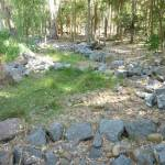 Dry rocky creek bed in Carnley Ave Reserve