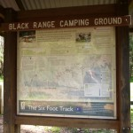 Sign in front of Black Range Camping Ground