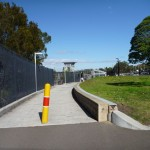 Path beside Berowra Station