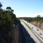 View of freeway from near Berowra Station