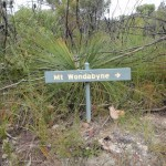Sign to Mt Wondabyne