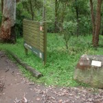 Signs in Berowra Valley Bushland Park