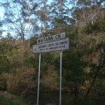 Waitara Creek sign