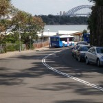 Looking Down road from Lower end of Taronga Zoo