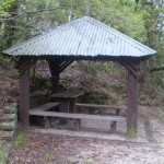 Picnic shelter along Shortcut track