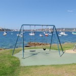 Swings facing Manly