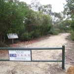Elvina Track trackhead gate